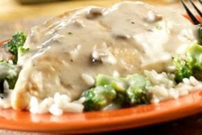 Chicken-&-Broccoli-in-Mushroom-Sauce