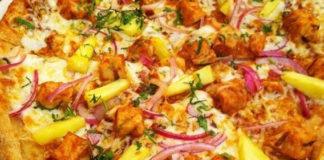Pineapple-Barbecue-Chicken-Pizza-with-Garden-Veggies