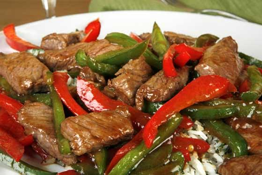 Spicy Southwest Beef And Peppers Over Beefy Rice Skip The Salt Low Sodium Recipes