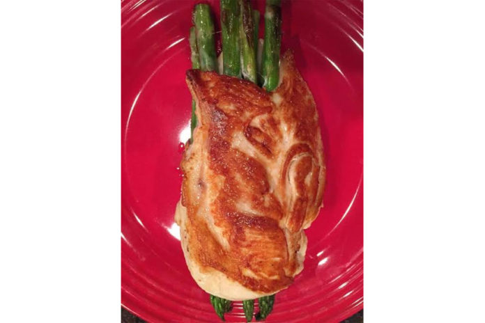 air-fryer-asparagus-provolone-stuffed-chicken-breast