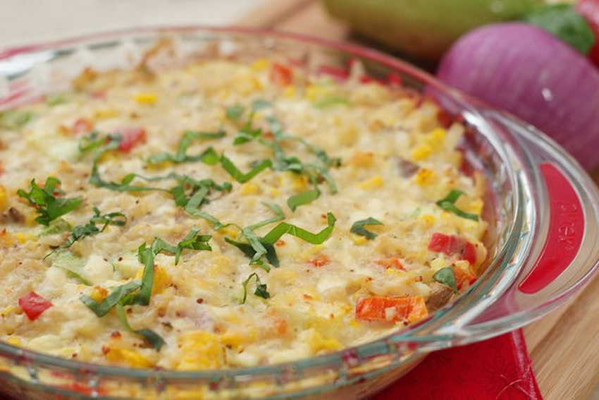 Cheesy Corn Casserole - Skip The Salt
