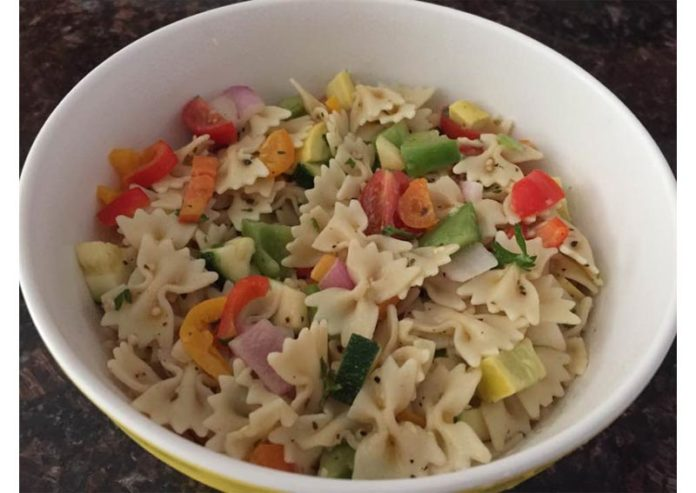 colorful-fresh-veggie-pasta-salad