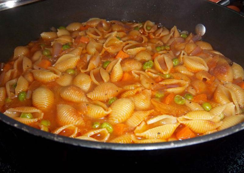 sopa de conchas (pasta shell soup) - skip the salt - low sodium recipes